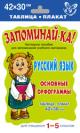 Русский язык. Основные орфограммы 1-5 кл